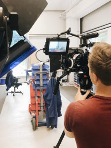 Kamera bei Dreharbeiten